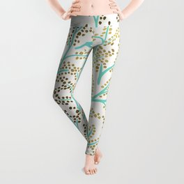 Branches – Mint & Gold Palette Leggings