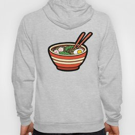 Ramen Bowl Pattern in Orange Hoody