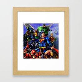 heroes all Framed Art Print