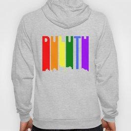 Duluth Minnesota Gay Pride Rainbow Skyline Hoody