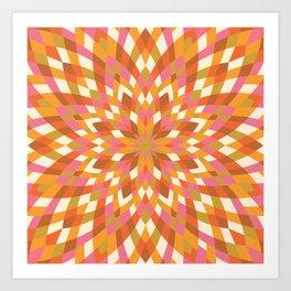 Firework Quilt #2 Art Print