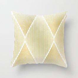 Folded Gold Throw Pillow