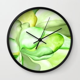 Gentle Leaf abstract Wall Clock