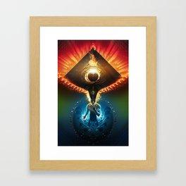 Lucid Synchronized Dimensionalism Framed Art Print