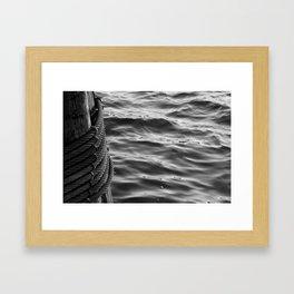 liquid cable Framed Art Print