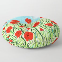 Everything's Popping Up Poppies! Floor Pillow