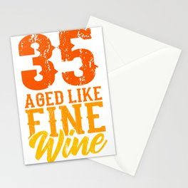 Aged Like Fine Wine 35th Birthday Gift Idea Stationery Cards