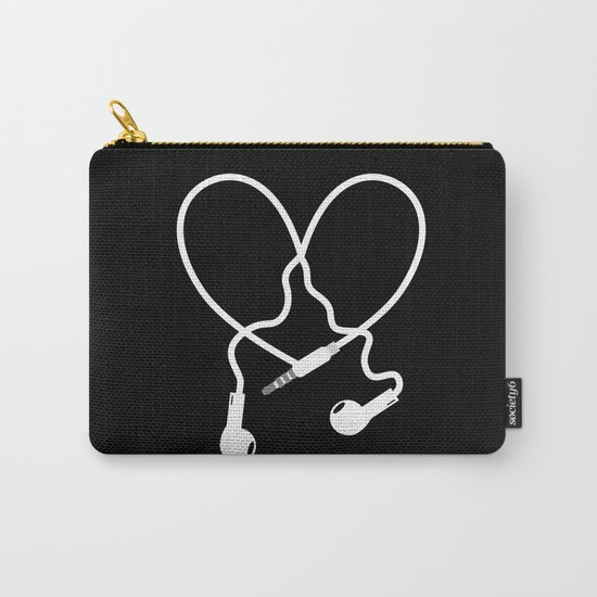 Love Music Headphones Carry-All Pouch