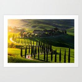 Curves of Tuscany Art Print