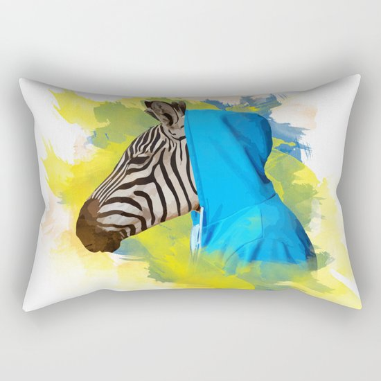 Gangsta Zebra Rectangular Pillow