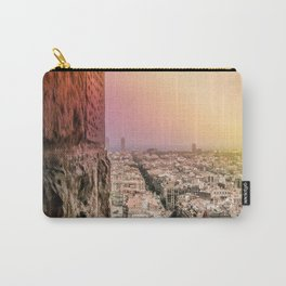 Colorful Rainbow View from Sagrada Familia over the Old City of Barcelona Carry-All Pouch