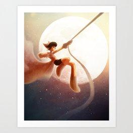 To the Moon!  Art Print
