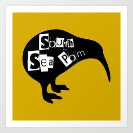 KIWI South Sea Pom Art Print