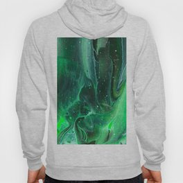 Abstract in Green Hoody