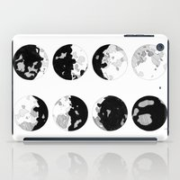 moon phases iPad Cases featuring Moon Phases by jsemKamm