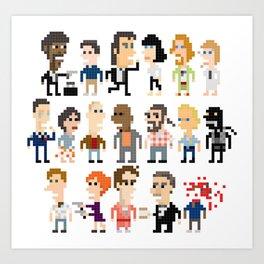 Pulp Fiction Iotacons Art Print