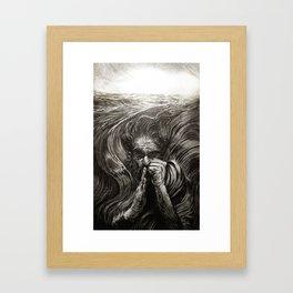 JONAH - SANS TEXT Framed Art Print