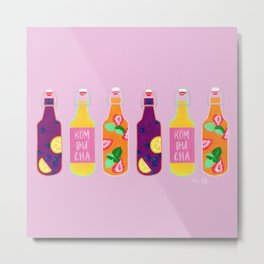 Kombucha - Rainbow Palette Metal Print
