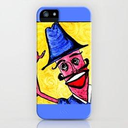 Blue Hat Man iPhone Case
