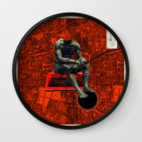 boxer Wall Clocks featuring Boxer by Frank Moth