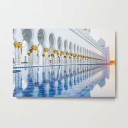 Abu Dhabi Sunset Metal Print