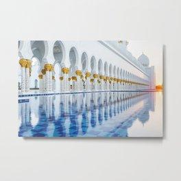 Abu Dhabi Sunset Metal Print