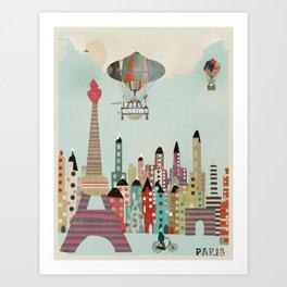 visit paris city Art Print