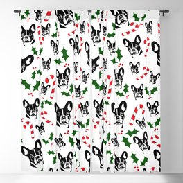 FRENCH BULLDOG LOVERS GIFTS ,GIFT WRAPPED FOR CHRISTMAS Blackout Curtain