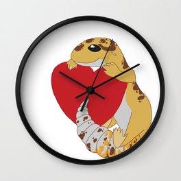 Leopard Gecko Love Wall Clock