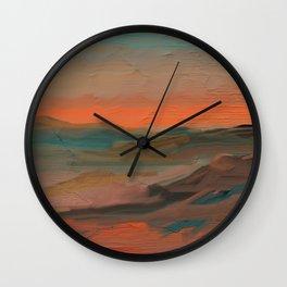 Southwestern Sunset Wall Clock