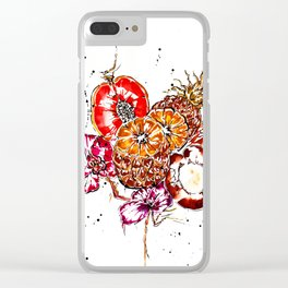 exotic fruits Clear iPhone Case