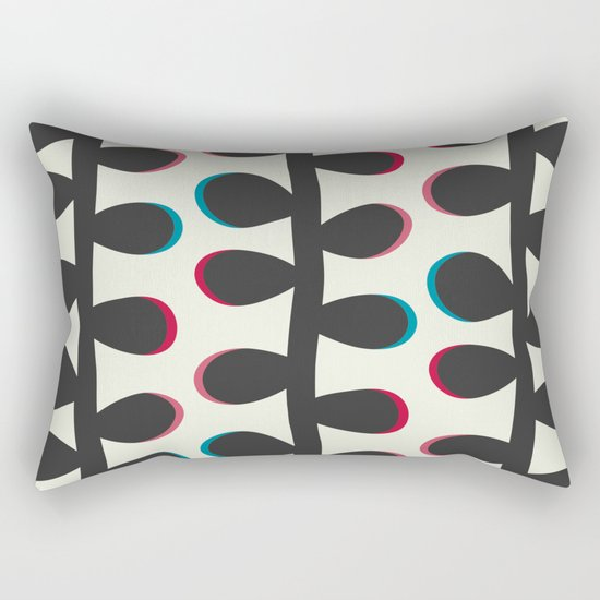 Like a Leaf [black] Rectangular Pillow