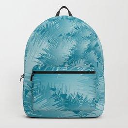 Bluish Spiral Snowflake Backpack