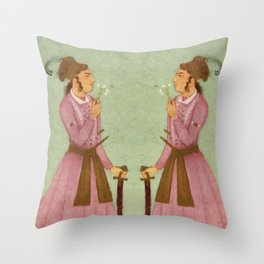 Akbar - Mughal Emperor Folk Hero Throw Pillow