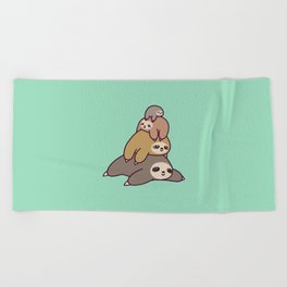 Sloth Stack Beach Towel