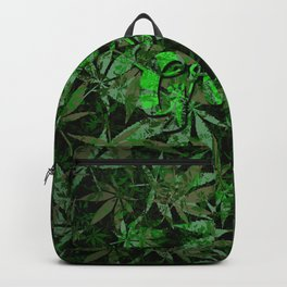 Just green - cannabis plant leaves #society6 Backpack