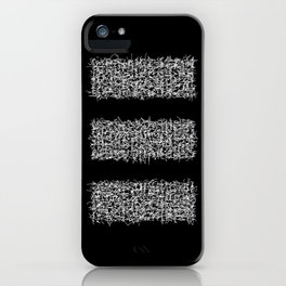 tri black iPhone Case