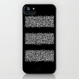 tri black iPhone Case