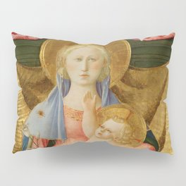 The Madonna of Humility with Two Musician Angels Pillow Sham