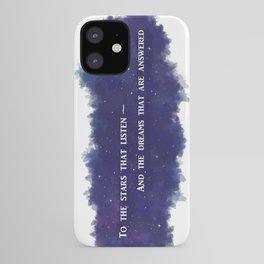 To the Stars that Listen (White) - A Court of Mist and Fury iPhone Case