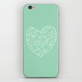 Abstract Heart Mint iPhone Skin