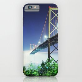 Spanning The Foggy Harbour iPhone Case