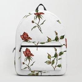 Loose Watercolor Rosebuds Backpack