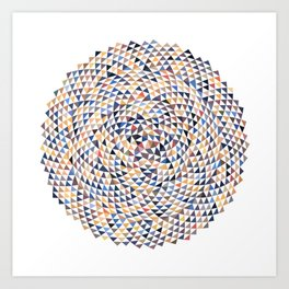Phyllotaxis Triangles Art Print