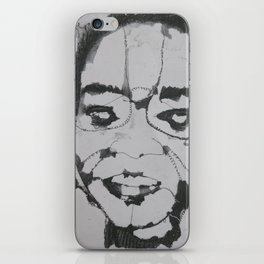 Embroidered face iPhone Skin