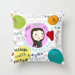 Per la Bea dels confeti  Throw Pillow