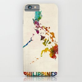 Philippines Watercolor Map iPhone Case