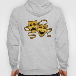 Gold Comedy And Tragedy Theater Masks Hoody