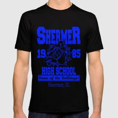 The Breakfast Club  |  Shermer High School Logo  |  John Hughes Universe Black X-LARGE Mens Fitted Tee