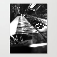 piano Canvas Prints featuring Piano by Claire Filz